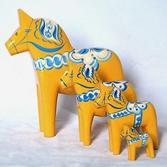 I grew up with Dala Horses through out mine and my grandparent's houses. They were a symbol of my Swedish Heritage and are Beautiful!