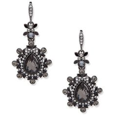 Givenchy Embellished Teardrop Earrings ($88) ❤ liked on Polyvore featuring jewelry, earrings, black, givenchy jewelry, givenchy, givenchy earrings, teardrop shaped earrings and tear drop earrings