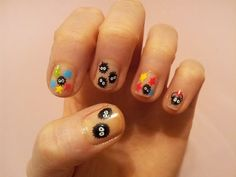 soot sprite nails- other hand