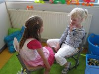 Coöperatief leren: auditief geheugen trainen. Om de beurt 3 of 4 woorden noemen die het maatje in de juiste volgorde na moet zeggen.