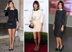 Alexa Chung´s top ten ways to be a hipster: 3. Incorporate a collar  Crispy, cutsey or contrasting, a well-decked neck can add a playful accent to an otherwise minimalist look. Recently, Chungy has ditched the Peter Pan shaped collar, instead sporting a sharper edge for that boy-meets-girl vibe. Simples!