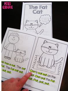 1st grade phonics books that kids can actually read! They come in full color but also in this black and white version you can print so kids can highlight the sound you're working on, sight words, etc.