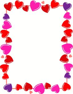 7 Best Images of Free Printable Valentine Borders - Valentine's Day Heart Border, Valentine Free Printable Page Borders and Valentine Heart Border Clip Art Valentines Day Border, Valentines Day Background, Valentines Day Hearts, Valentine Crafts, Kids Valentines, Valentine Jokes, Valentine Party, Printable Valentine, Saint Valentine