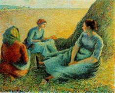 Haymakers Resting, 1891, Camille Pissarro