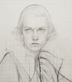Woman with White Ruffled Collar, 1930's Bernard Boutet de Monvel.  French (1884-1949)