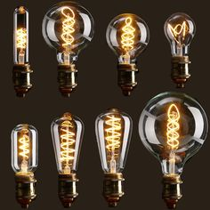 Only buy best dimmable cob led vintage retro industrial edison lamp indoor lighting filament light bulb sale online store at wholesale price. Luminaire Vintage, Vintage Industrial Lighting, Edison Lighting, Cool Lighting, Retro Lighting, Chandelier Lighting, Bathroom Lighting, Lampe Edison, Edison Bulbs