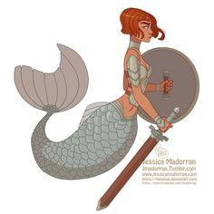https://www.deviantart.com/art/MerMay-Day-8-Armored-Mermaid-744214886