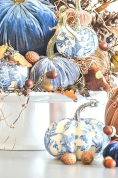 VELVET AND CHINOISERIE PUMPKINS AND A $200.00 GIVEAWAY - StoneGable