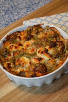 Aardappeltaartje met geitenkaas en champignons voor 9 SmartPoints bij Weight Watchers.