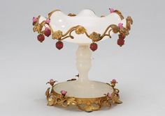Ornate French Opaline Glass   c.1880