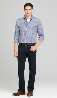Garment dyed denim is a staple for spring. Pair with a basic tee and a leather jacket and you are ready for anything!     http://www.elietahari.com/mens-designer-clothing/mens-dress-pants-and-shorts/duncan-pant-1/739412569330,default,pd.html?start=16=new-men-new_arrivals=new-men-new_arrivals