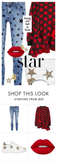 """Twinkle, Twinkle: Star Outfits"" by cultofsharon ❤ liked on Polyvore featuring Current/Elliott, Givenchy, Chiara Ferragni, Lime Crime and Maria Tash"