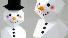 Bonhomme de neige origami