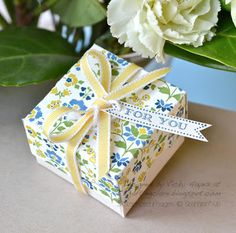 Stampin' Up papers ring box tutorial
