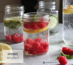 Homemade flavored water + other naturally refreshing beverages.