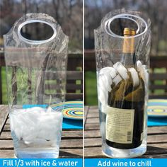 Portable Wine Chiller Bag  Cooler Tote uses Ice and Water No Freezing Needed Best Gift Bag for Women and Men Take Wine to Go and Outdoors Keep Wine Insulated on Patio and Pool -- See this great product. (This is an affiliate link) Chill Bag, Wine Chillers, Best Gifts, Frozen, Outdoors, Ice, Patio, Entertaining, Outdoor Decor