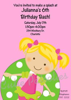 Girls Pool Party Birthday