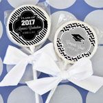 Event Blossom's Personalized Graduation Lollipop are the sweetest favor for graduations from pre-school all the way to college!