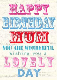 Jane Heyes - vintage text Happy Birthday wonderful Mum .PSD