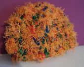 Newborn Orange Autumnal Prop Hat