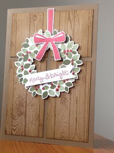 Stampin Up Wondrous Wreath Bundle