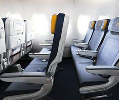 Lufthansa Economy-Class Innovation: Slimmed-down seats for extra legroom.