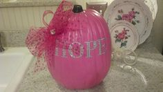 Breast cancer pumpkin