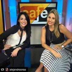 Alessandra Oraá y María Alejandra Requena #Repost @alejandraoraa with @repostapp ・・・ ¡Café con aroma de Venezuela! (Y de mujer) feliz en Miami con @RequenaCNN. Hoy me encuentro en la ciudad del sol para ser parte de una portada muy especial de...