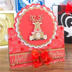 Tattered Lace Little Monsters Die - Baby Reindeer from Create and Craft USA