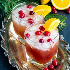 Cranberry Brunch Punch Drink made with only 4 ingredients. Fresh taste of pineapple, cranberries, orange juice. Make in minutes. Perfect for the holidays.