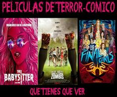 #películas de #terror-cómico que tienes que ver.Antes que termine el año
