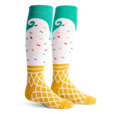 I scream, you scream, we all scream for the perfect pair of soft serve socks make just for kids! Rather than chasing down the ice cream man every time your child hears the iconic tune down the road, s