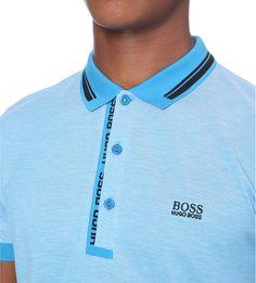 HUGO BOSS - Striped-trim cotton-jersey polo shirt | Selfridges.com