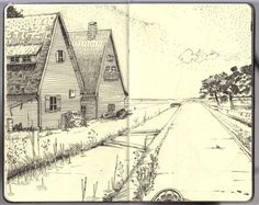Images from Stephan Hohenthanner's blog seem more like memories than sketches to me.