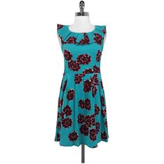 Pre-owned Marc by Marc Jacobs Floral Print Cotton Dress ($69) ❤ liked on Polyvore featuring dresses, floral ruffle dress, blue floral print dress, floral dress, ruffle dress и blue cotton dress