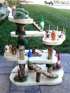 Waldorf wooden tree house* doll house* Fairy house* natural doll house* pretend play* open ened play* wood toy* Birthday gift