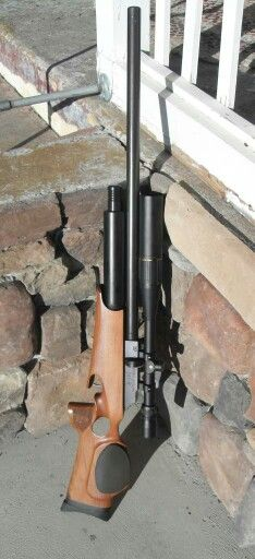 Theoben MFR with a fully shrouded barrel. Super accurate air rifle!