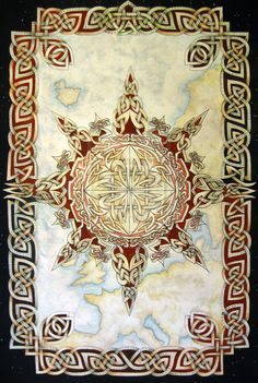 Knotwork compass rose by ~knotty-inks on deviantART