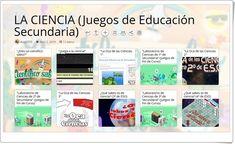 11 juegos sobre CIENCIA en Educación Secundaria Science Games, Interactive Activities, Middle School, Learning, Reading