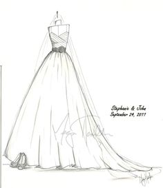 A custom sketch of your bridal gown, shoes, etc. I'm SO doing this!