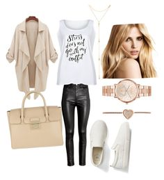 """""""Untitled #20"""" by jasminalugavic ❤ liked on Polyvore featuring H&M, LC Trendz, Fragments, Gap, Furla, Michael Kors and plus size clothing"""