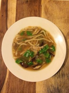In the Kitchen: 20 Minute Udon with Shiitakes and Snow Peas