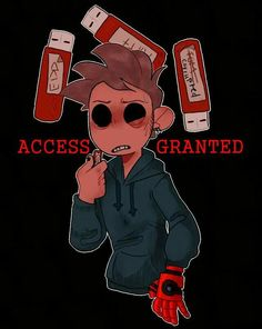 Why the hell is Toms hand Tords robots hand? Also my file would also be corrupted Sarah Andersen, Character Drawing, Character Design, Serie Web, Tom Thomas, Eddsworld Tord, Tomtord Comic, Eddsworld Memes, Banana Bus Squad