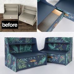 """Aleksandra's Furniture on Instagram: """"Before and after ❤️ Available for sale! #beforeandafterfurniture #møbler #furniture #nightstand #nighttable #painteddresser…"""" Night Table, Storage Chest, Nightstand, Bench, Cabinet, Instagram, Furniture, Home Decor, Clothes Stand"""