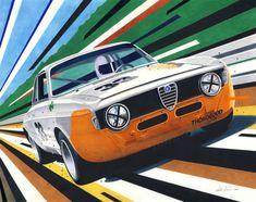 Alfa GTA  By artist Miha Furlan