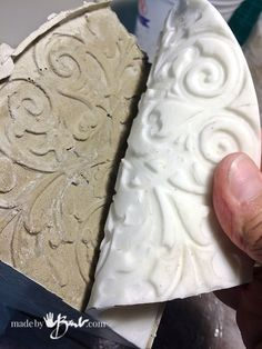 Make a texture panel from anything interesting. Use to cast into concrete molds to add interest and detail & further enjoy antique relics in modern concrete Concrete Tools, Concrete Jewelry, Concrete Crafts, Concrete Art, Concrete Projects, Concrete Texture, How To Make Silicone, Diy Silicone Molds, Stamped Concrete Patterns