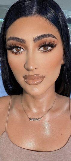 Glam Makeup, Makeup Art, Eye Makeup, Brown Makeup, Septum Ring, Makeup Looks, Beautiful Women, Make Up, Eyes