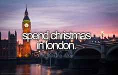 I would love and hate this. I love London but on christmas I belong with my family!