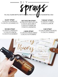 Young living essential oil's Premium Starter Kit DIY sprays Essential Oils Room Spray, Essential Oil Diffuser Blends, Doterra Essential Oils, Young Living Essential Oils, Essential Oils For Hair, Essential Oils Sleep Blend, Diy With Essential Oils, Essential Oils For Laundry, Essential Oil Cleaner