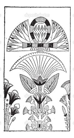 58 best egyptian blue lotus images on pinterest drawings egypt egyptian lotus flower egyptian decoration with lotus flower design vintage engraving mightylinksfo